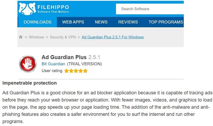 Ad Guardian Plus - FileHippo