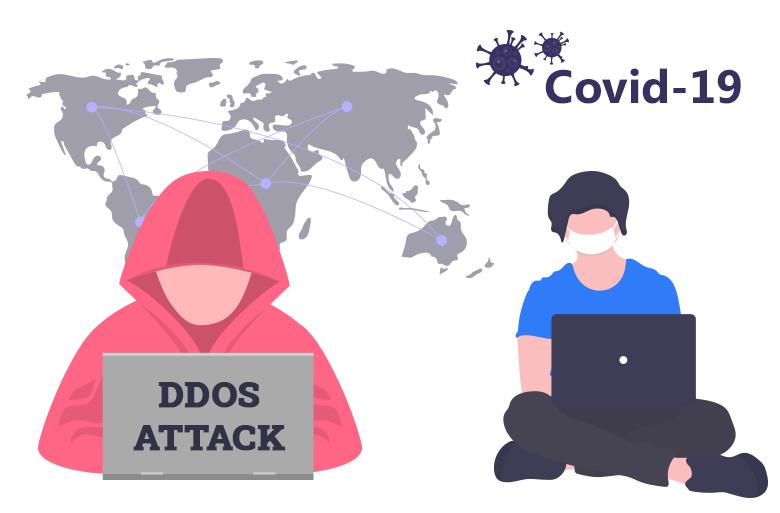 COVID-19 DDoS attacker