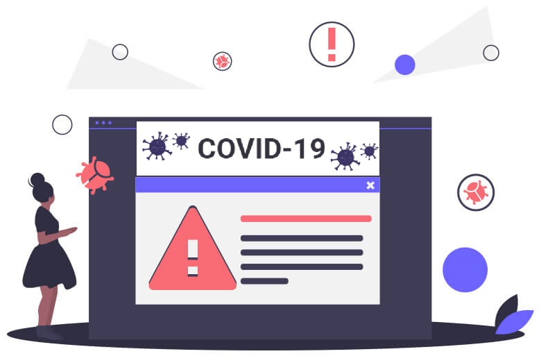 Online coronavirus threats