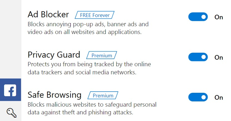 Protect yourself - Ad Guardian Plus Premium options