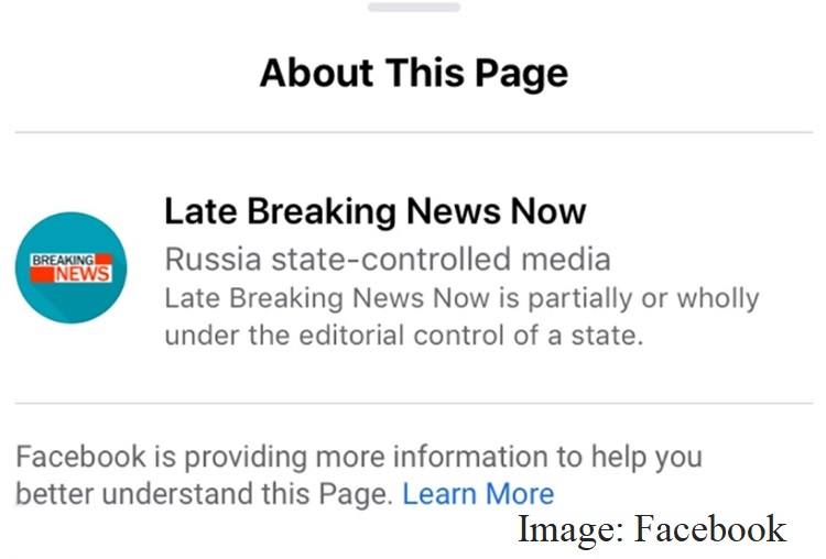 Facebook labels both news and ads from state-controlled media