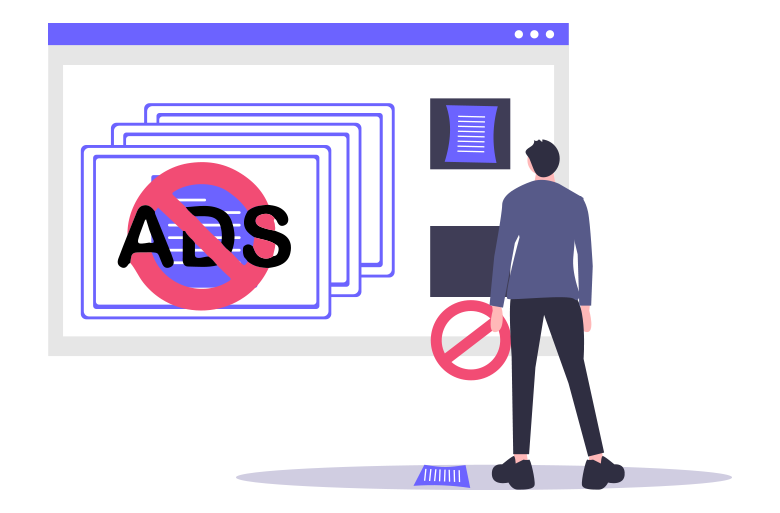 Ad blockers keep you away from ads