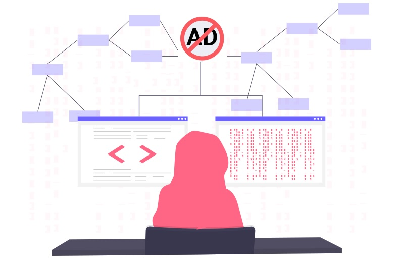 Ad blocking as a lure